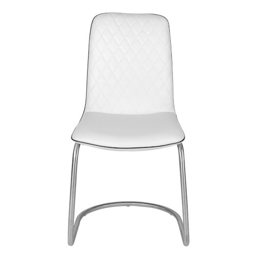Harris White Leatherette Side Chair