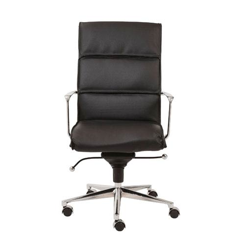 Eurostyle Leif Black Leatherette High Back Office Chair