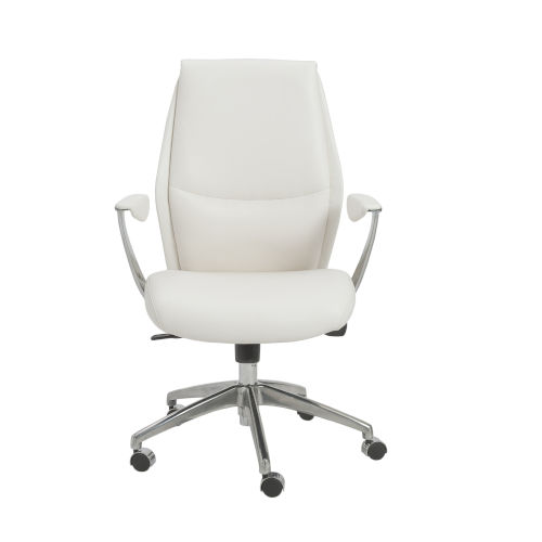 Crosby White 26-Inch Low Back Office Chair