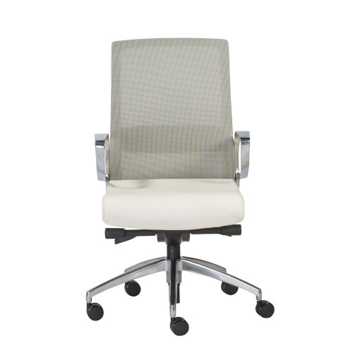 Alpha White 26-Inch Office Chair