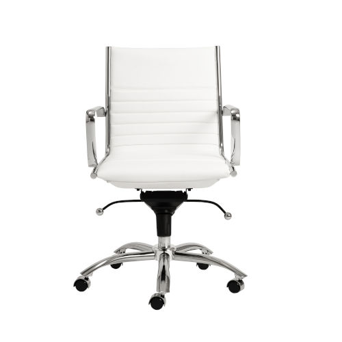 Dirk White 27-Inch Low Back Office Chair