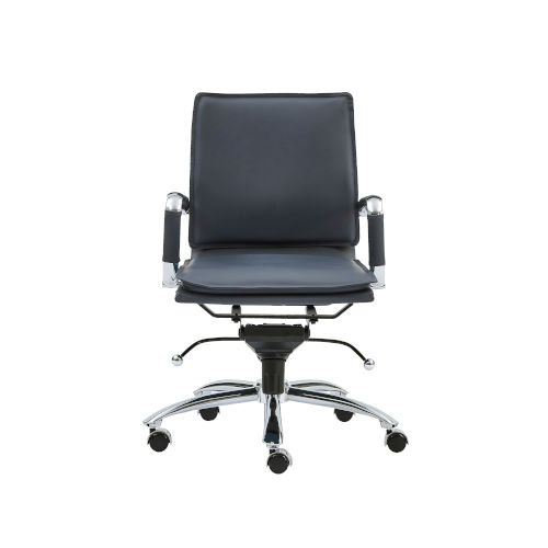 Gunar Blue 26-Inch Pro Low Back Office Chair