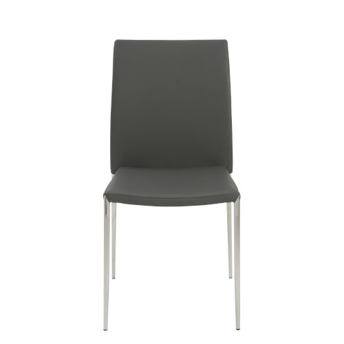 Diana Gray 18-Inch Stacking Side Chair, Set of 4
