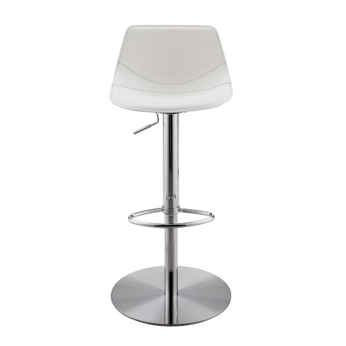 Rudy White 18-Inch Adjustable Stool