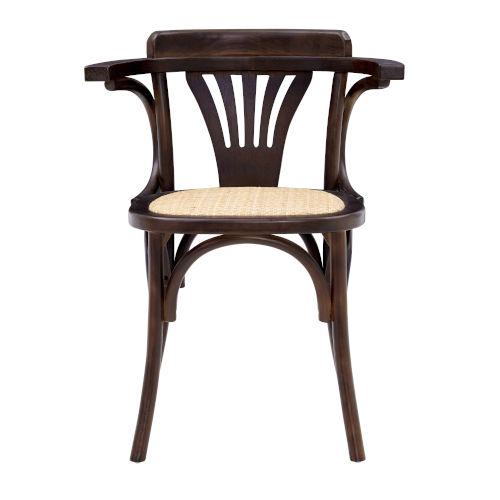 Adna Walnut 24-Inch Arm Chair