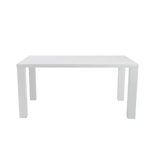 Abby White 63-Inch Rectangle Dining Table