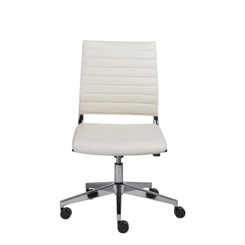 Brooklyn White Low Back Office Chair