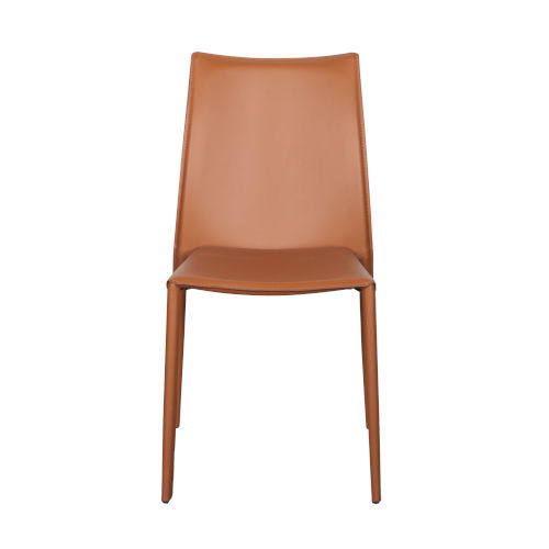 Dalia Cognac 19-Inch Pro Stacking Side Chair, Set of 4