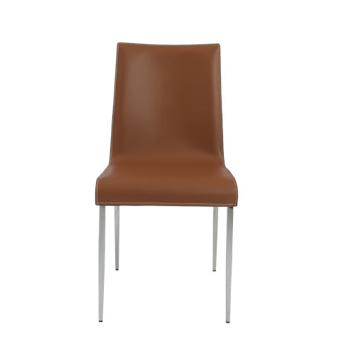 Cam Cognac  18-Inch Side Chair, Set of 2