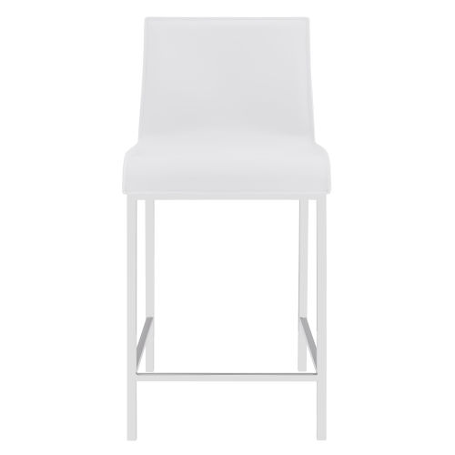 Cam White 17-Inch Counter Stool, Set of 2