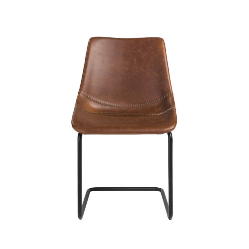 Flynn Brown 19-Inch Side Chair, Set of 2