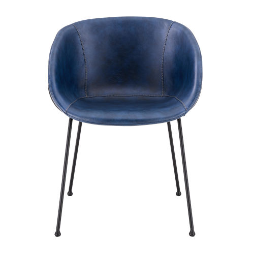 Zach Blue 22-Inch Arm Chair, Set of 2