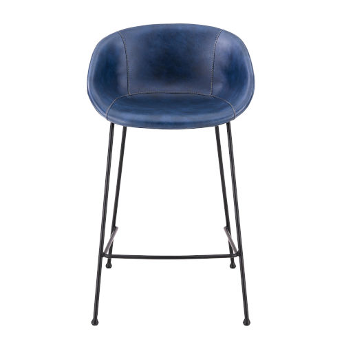 Zach Blue 21-Inch Counter Stool, Set of 2