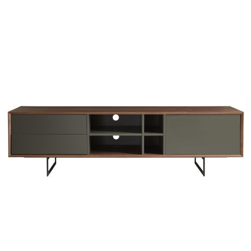 Anderson Walnut and Gray 71-Inch Media Stand