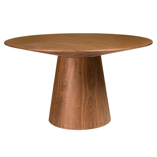 Wesley Walnut 53-Inch Round Dining Table