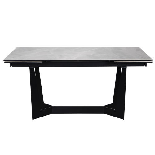 Mateo Gray and Black 94-Inch Extension Dining Table