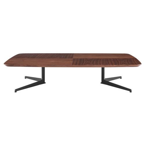 Ramili Walnut and Gray 32-Inch Rectangular Coffee Table