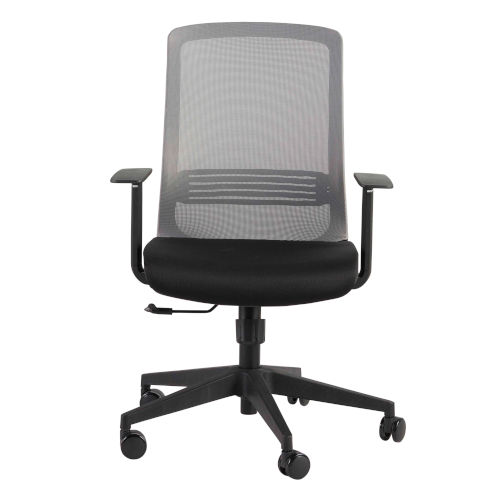 Spiro Gray 26-Inch Office Chair with Adjustable Arms