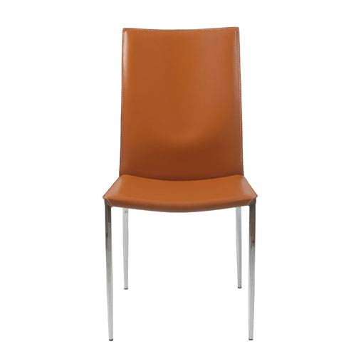 Emerson Cognac Side Chair, Set of Two