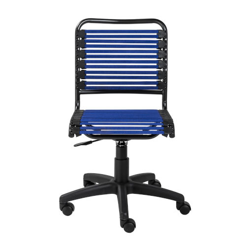 Loring Flat Blue Bungie Low Back Office Chair