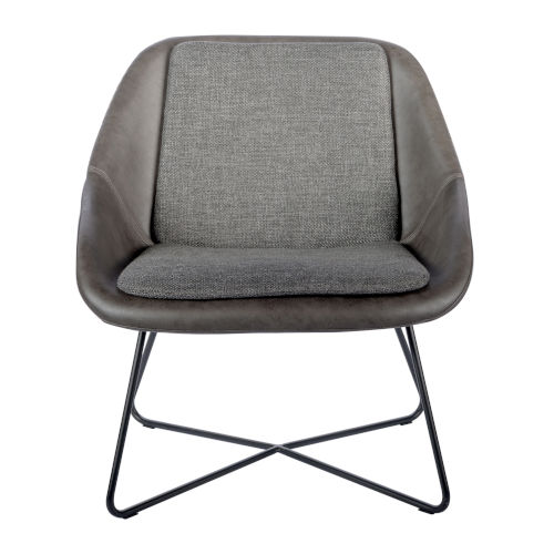 Emerson Dark Gray Leatherette Lounge Chair
