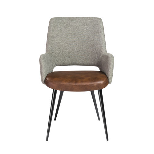 Loring Light Brown Leatherette Arm Chair