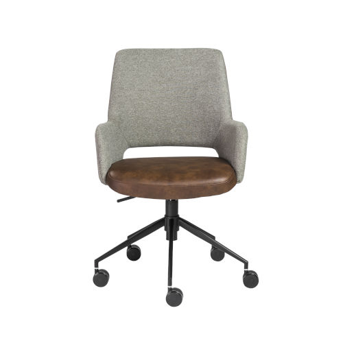 Emerson Gray Leatherette Tilt Office Chair