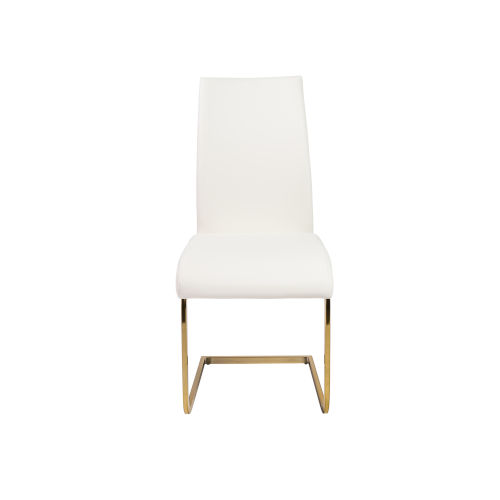 Loring White Leatherette Side Chair, Set of 4