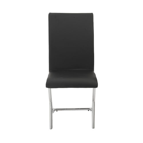 Cordelia Black 17-Inch Side Chair, Set of 2