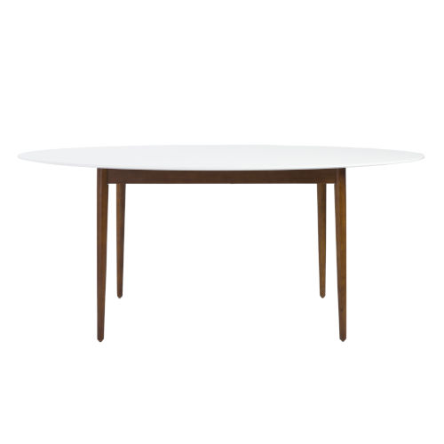 Manon White 63-Inch Round Dining Table