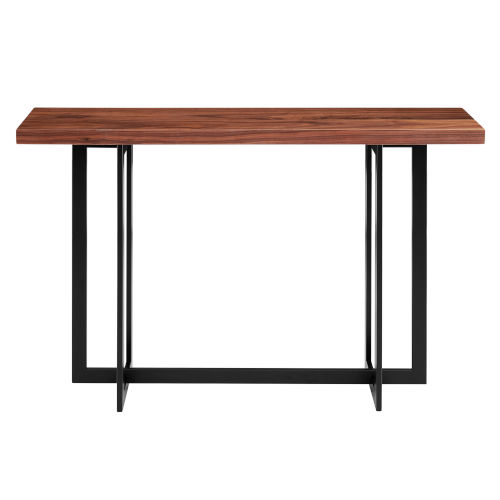 Hardy Walnut and Black 47-Inch Console Table