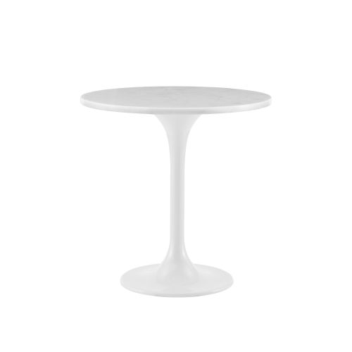 Astrid White 20-Inch Round Side Table