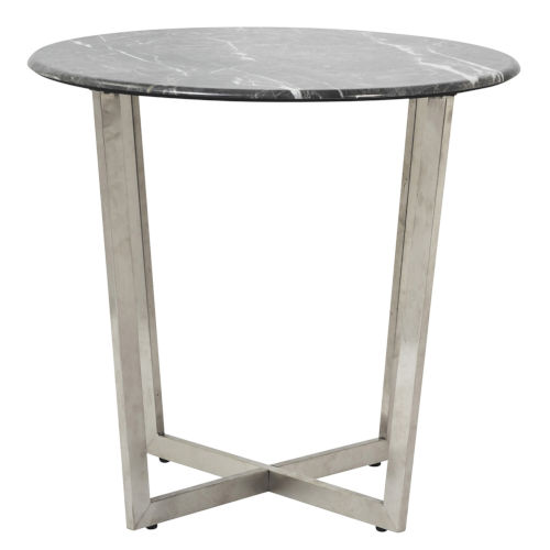 Llona Black 24-Inch Round Side Table