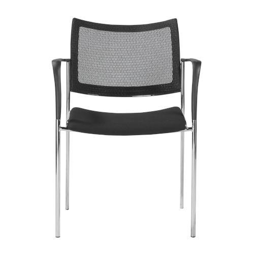 Vahn Black 23-Inch Visitor Chair, Set of 2