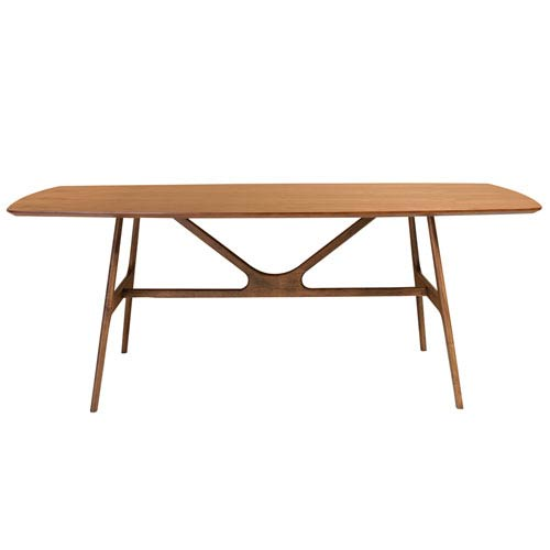 Eurostyle Travis Rectangle Dining Table in American Walnut