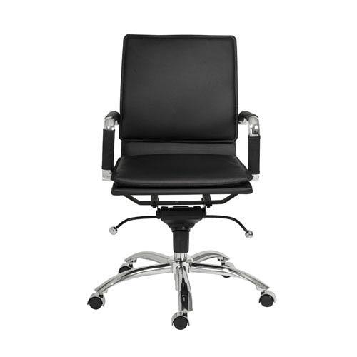 Eurostyle Gunar Black Leatherette Pro Low Back Office Chair