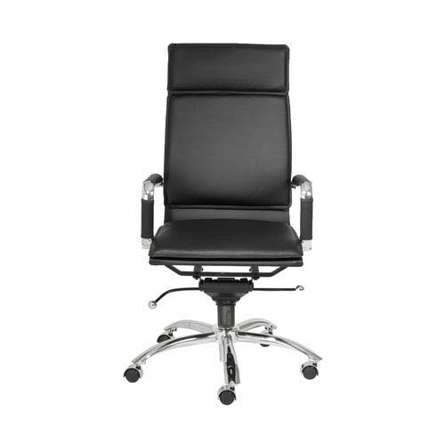 Eurostyle Gunar Black Leatherette Pro High Back Office Chair