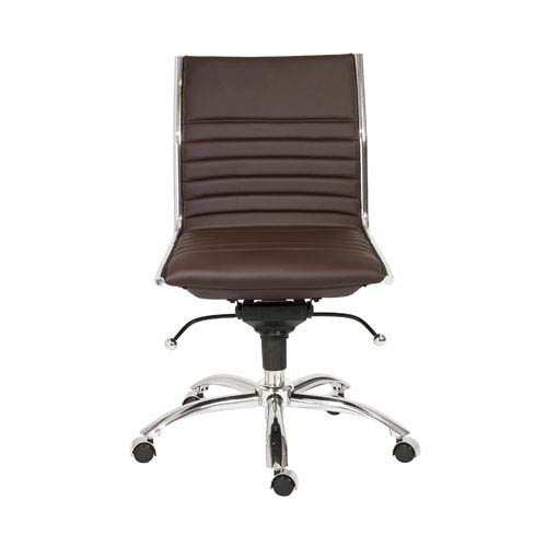 Eurostyle Dirk Brown Low Back Office Chair without Arms