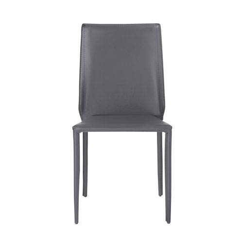 Alder Stacking Side Chair in Dark Gray - Set of 4