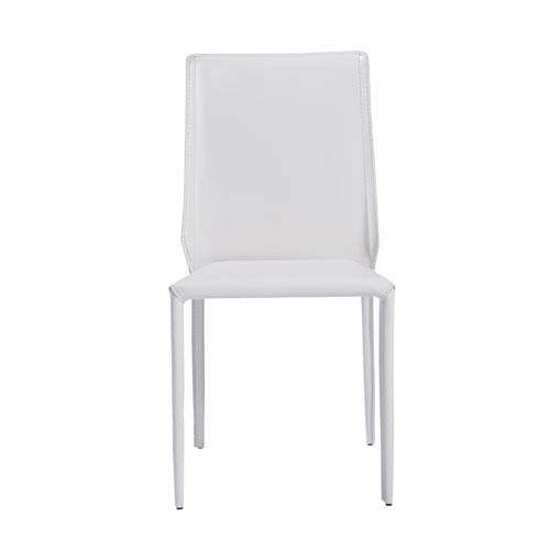 Eurostyle Alder Stacking Side Chair in White - Set of 4