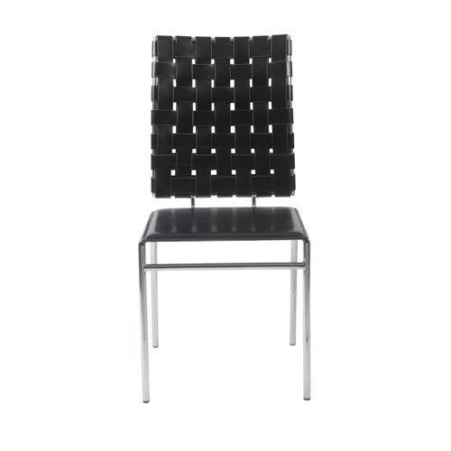Eurostyle Carina Black Side Chair, Set of Four