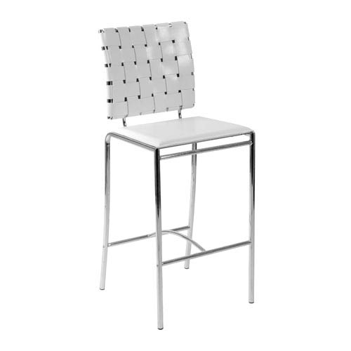 Eurostyle Carina White Counter Chair, Set of Two