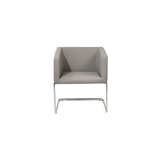 Eurostyle Ari Gray Leatherette Lounge Chair