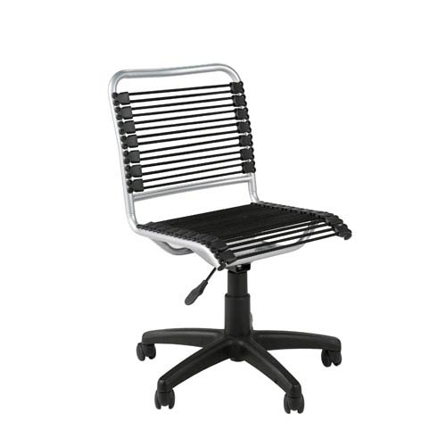 Eurostyle Bungie Black Aluminum Low Back Office Chair