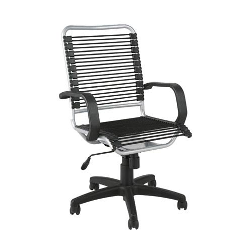 Bradley Black Aluminum Bungie Office Chair