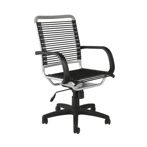 Eurostyle Bungie Black Aluminum High Back Office Chair