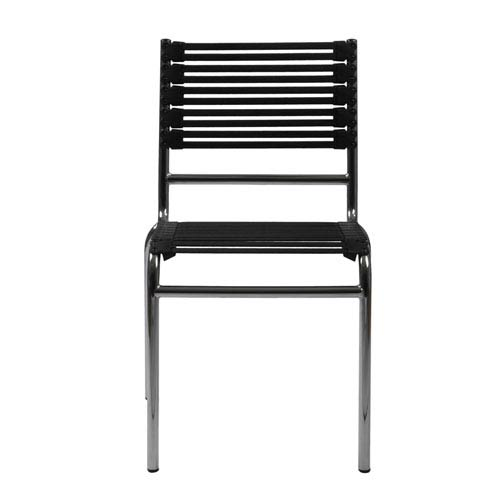 Eurostyle Bungie Flat Stacking Chair, Set of Four