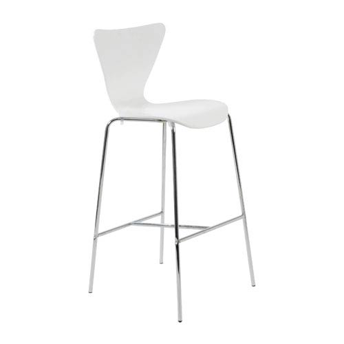 Tendy White Bar Chair, Set of Two