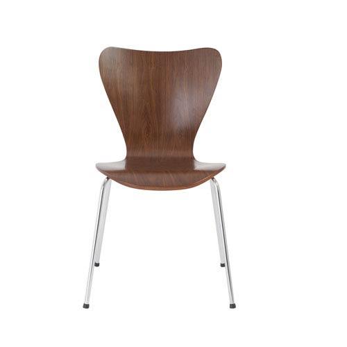Eurostyle Tendy Walnut Chair, Set of 4