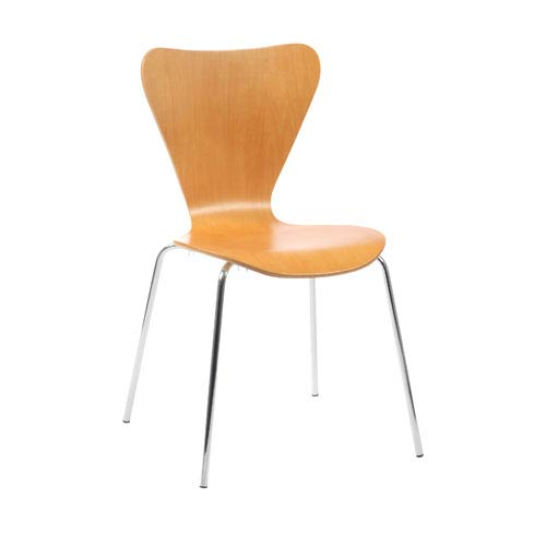 Eurostyle Tendy Natural Side Chair, Set of Four